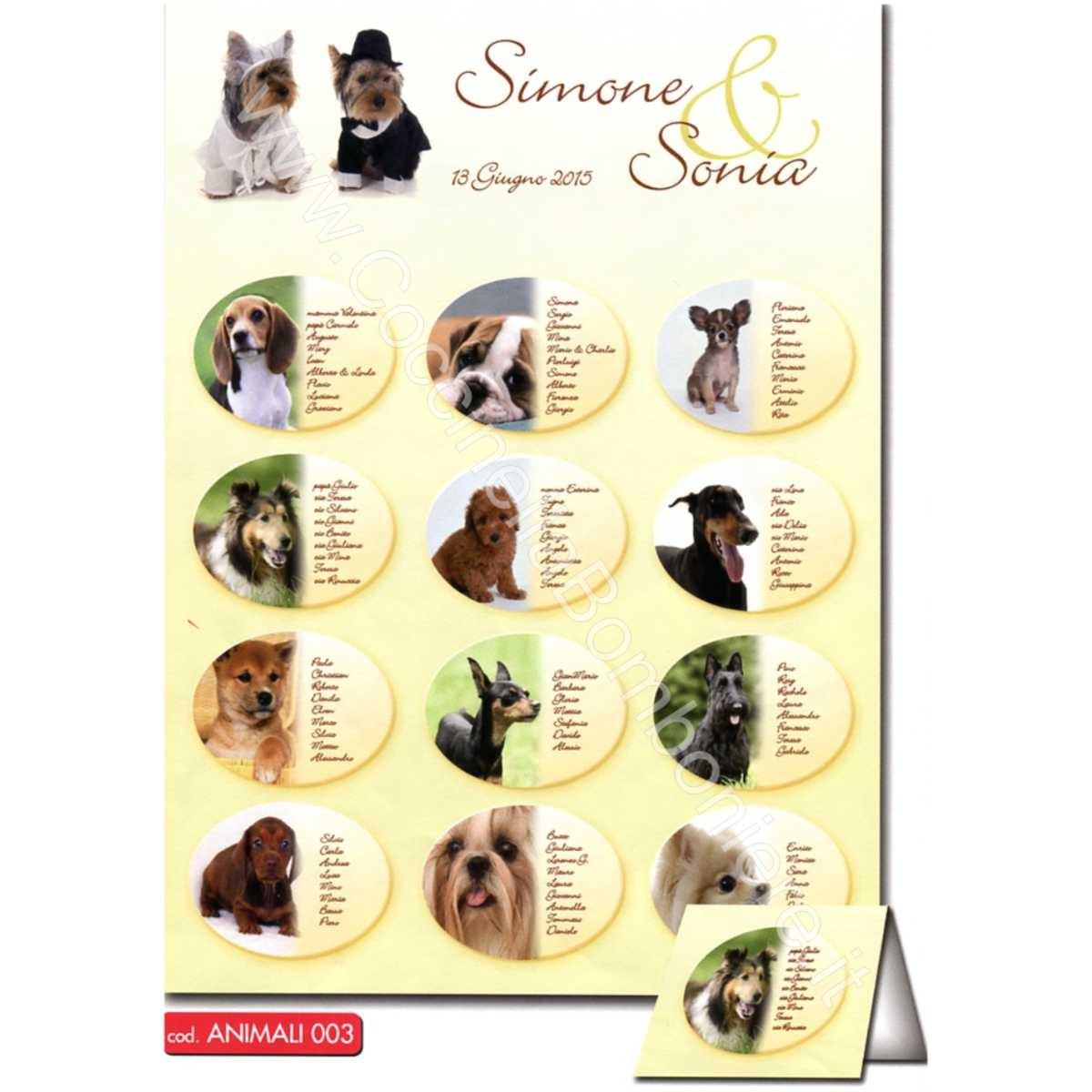 Matrimonio Tema Animali : Tableau mariage animali la coccinella bomboniere