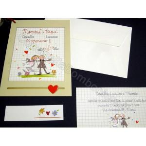 Partecipazioni Matrimonio Mamma E Papa Si Sposano.96361 Partecipazione Matrimonio Mamma E Papa Si Sposano La