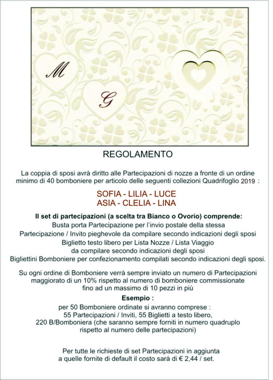 Partecipazioni Matrimonio Quadrifoglio.Collezione Lina La Coccinella Bomboniere